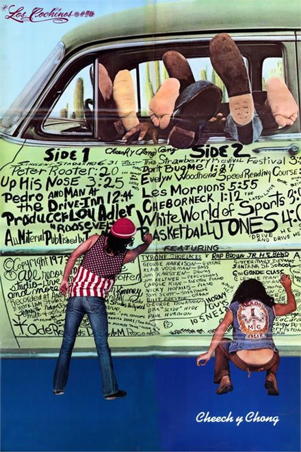 "Cheech & Chong ""The Pigs"" Grafitti Poster 24in x 36in Image"