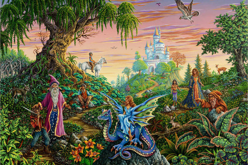 Enchanted Encounter - Michael Fishel Poster 36in x 24in Image