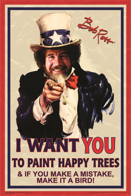 Uncle Bob Ross Poster 24in x 36in Image