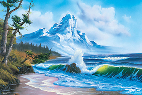 Waves Crashing - Bob Ross Poster 36in x 24in Image
