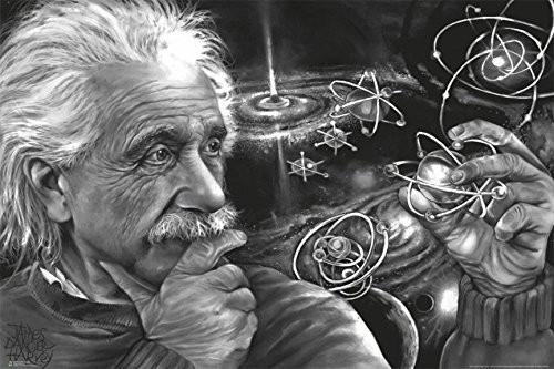 Einstein Quasar by James Harvey Danger 36x24 Genius Scientist Art Print Poster Image