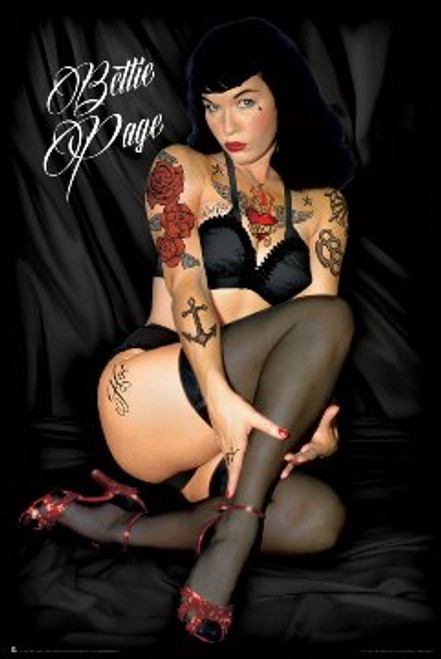 Bettie Page - Tattoo Poster 24in x 36in Image