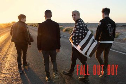 Fall Out Boy - Group Flag Poster 36in x 24in Image