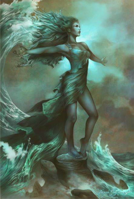 Breaking Waves By: Renee Biertempfel Poster 24in x 36in Image