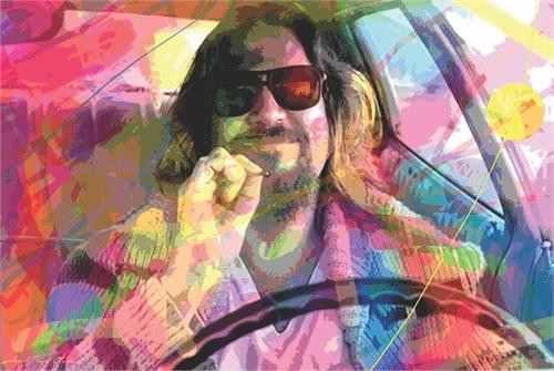 Psychadelic Dude By: David Lloyd Glover Poster 24in x 36in Image
