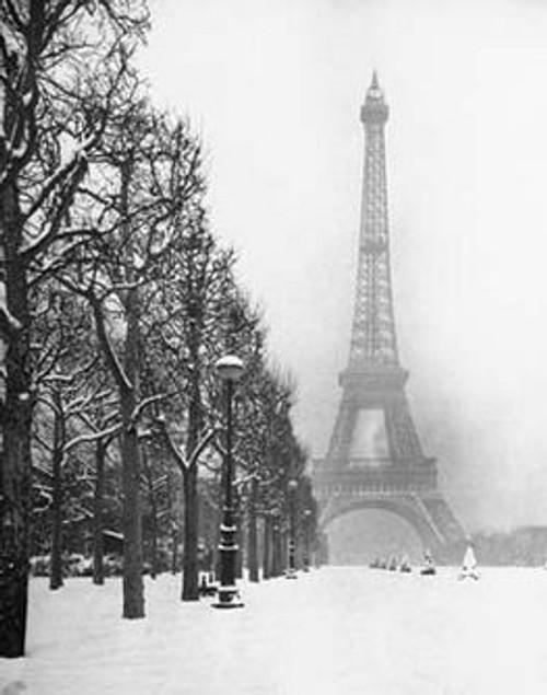 """Paris In Snow - 16 X 20"""" Poster Image"""