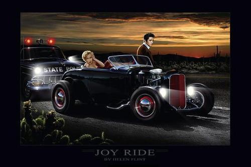 Joyride Elvis & Marilyn: By Helen Flint Poster  Image