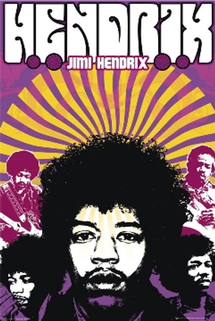 Jimi Hendrix Poster 24in x 36in Image
