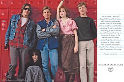 Breakfast Club Lockers Poster 36in x 24in Image