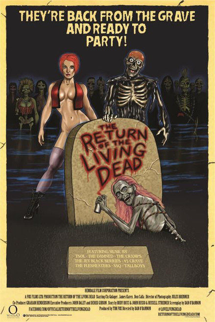 Return Of The Living Dead - One Sheet Movie Poster 24in x 36in Image