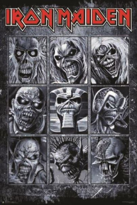 Iron Maiden Collage Poster 24in x 36in Image