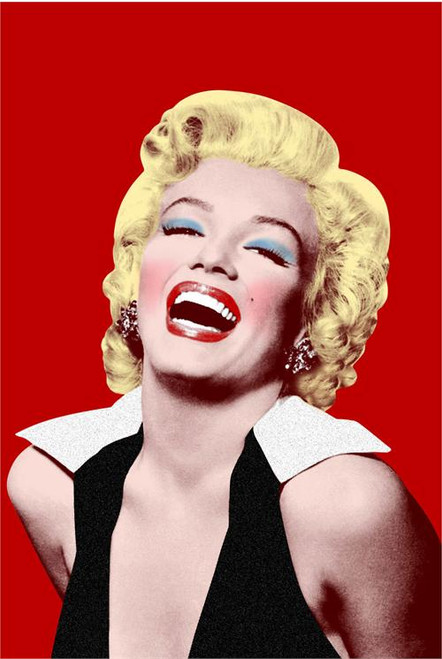 Marilyn Monroe Red Poster 24in x 36in Image