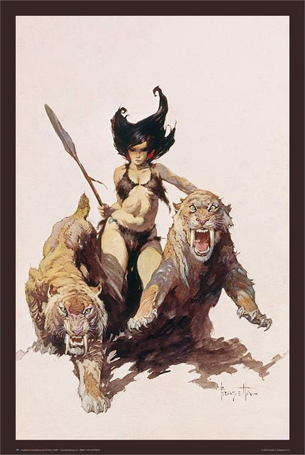 The Huntress By: Frank Frazetta Poster 24in x 36in Image