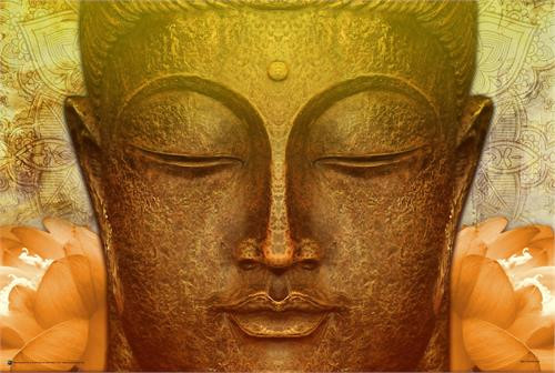 Buddha Gold Poster 36in x 24in Image