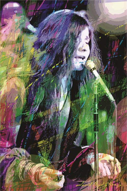 Janis Joplin By: David Lloyd Glover Poster 24in x 36in Image