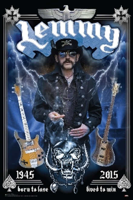 Lemmy - Tribute Poster 24in x 36in Image