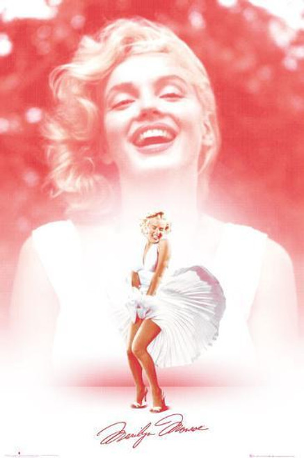 Marilyn Monroe - Pink Dress Smile Poster 24in x 36in Image