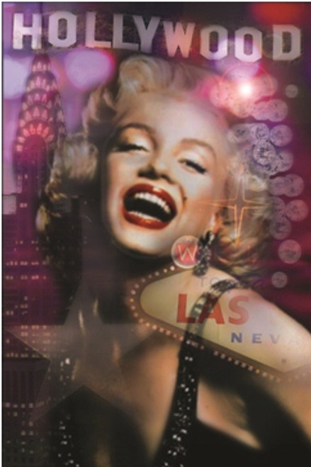 Marilyn Monroe Hollywood Poster 24in x 36in Image