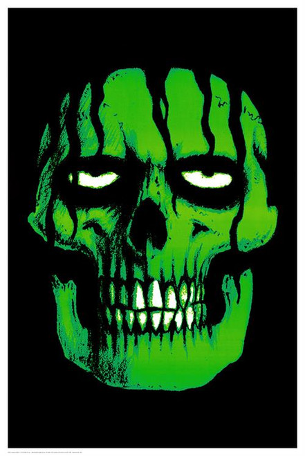 """Green Zombie Non-Flocked Blacklight Poster 24"""" X 36"""" Image"""