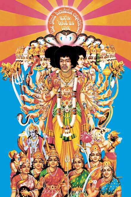 "Jimi Hendrix - Axis Poster 24"" X 36"" Image"
