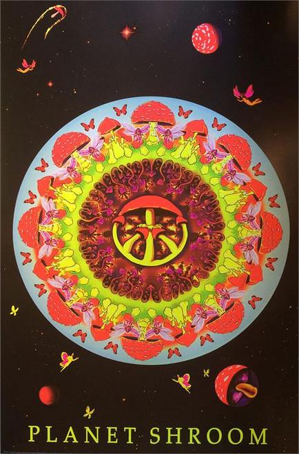 "Planet Shroom Non-Flocked Blacklight Poster 24"" X 36"" Image"