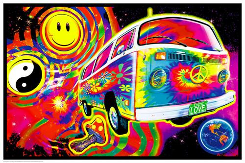 "Magic Bus Non-Flocked Blacklight Poster 36"" x 24"" Image"
