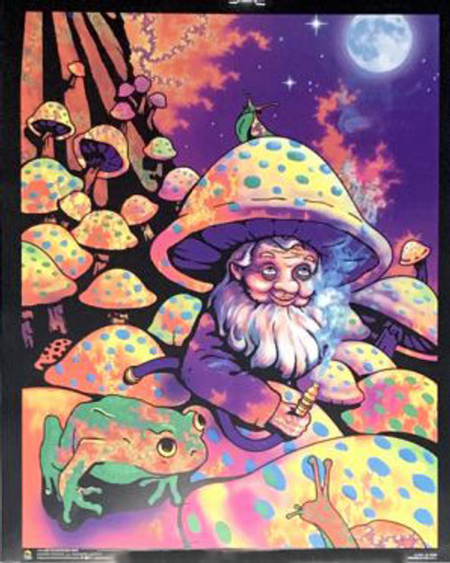 Mushroom Man Non-Flocked Mini Blacklight Poster Image