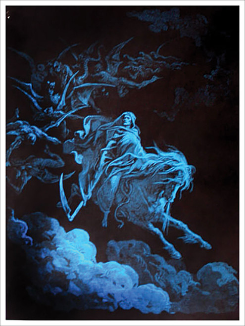 Death Rides A Pale Horse Non-Flocked Blacklight Poster