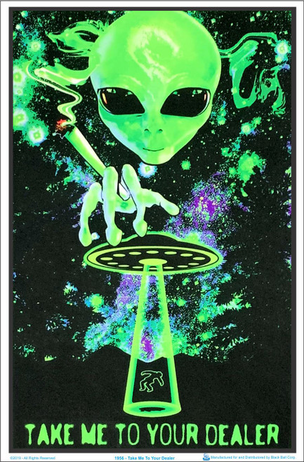 Take Me To Your Dealer Blacklight Poster Image