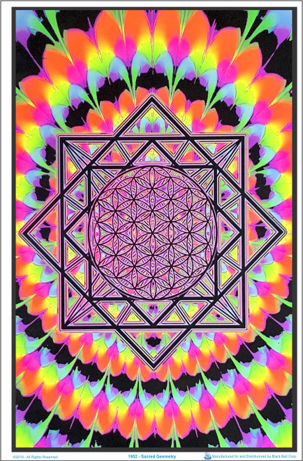 Sacred Geometry Blacklight Poster Image