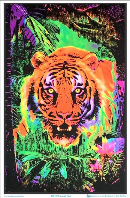 Jungle Tiger Blacklight Poster Image