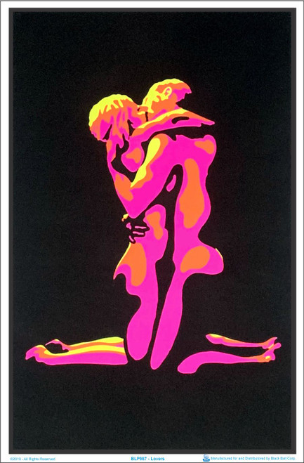 Lovers Blacklight Poster Image
