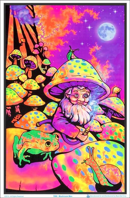 Mushroom Man Blacklight Poster Image