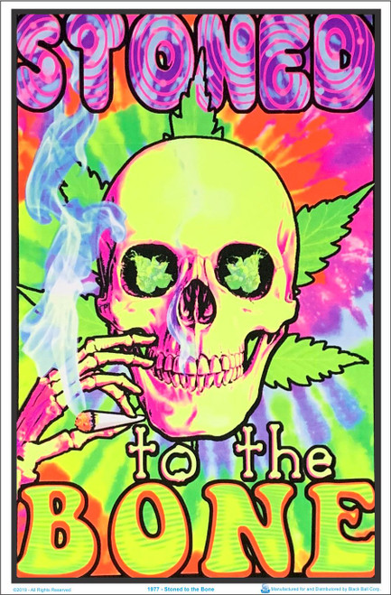 Stoned To The Bone Blacklight Poster Image
