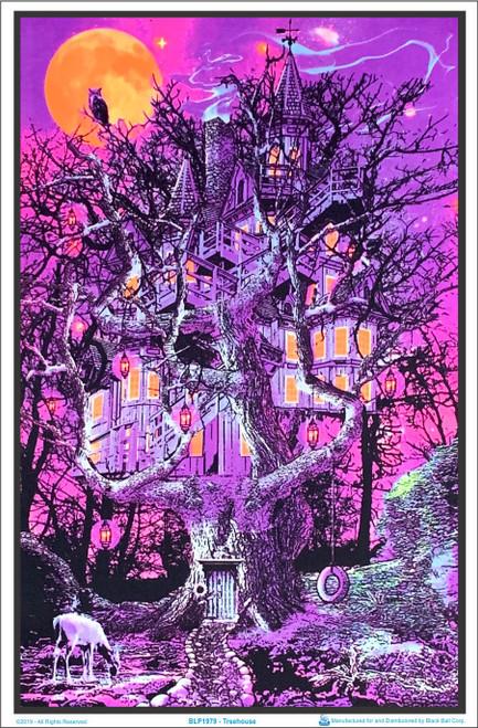 Treehouse Blacklight Poster Image