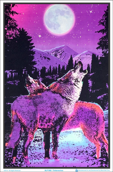 Timberwolves Blacklight Poster Image