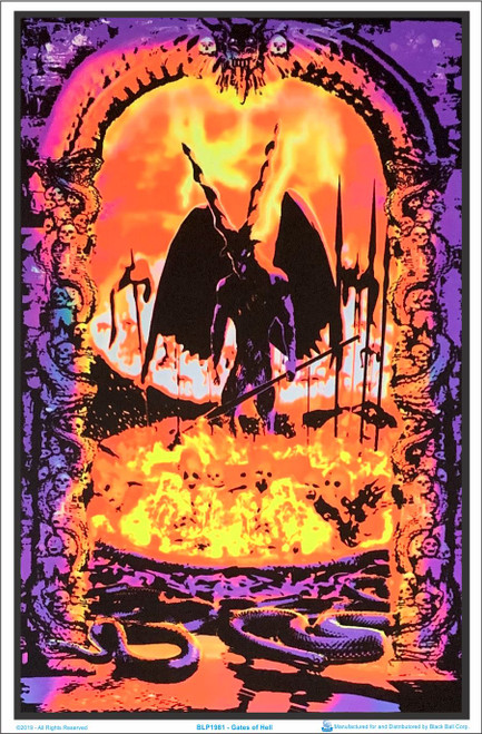 Gates Of Hell Blacklight Poster Image