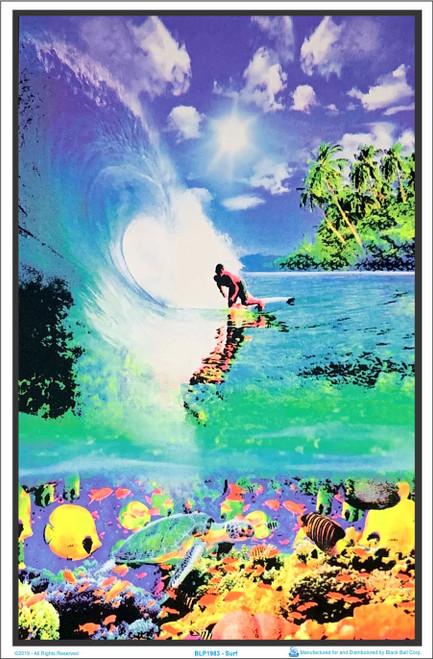 Surf Reef Blacklight Poster Image