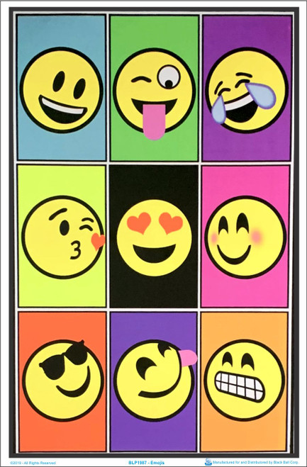 Emojis Blacklight Poster Image
