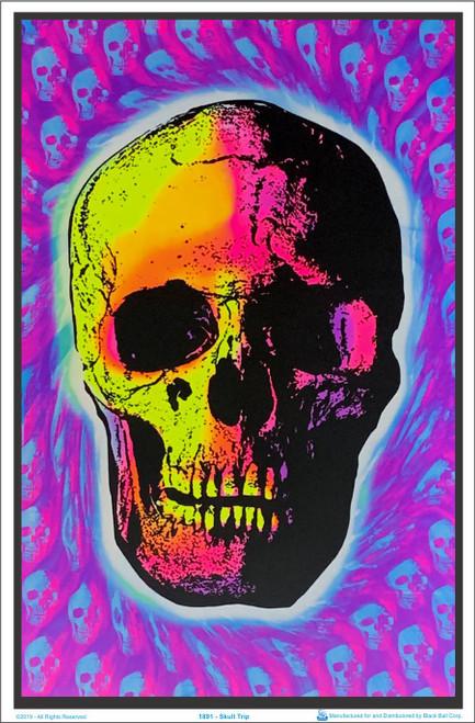 Skull Trip Blacklight Poster Image