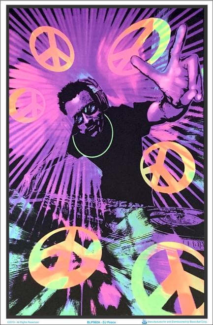 DJ Peace Blacklight Poster Image
