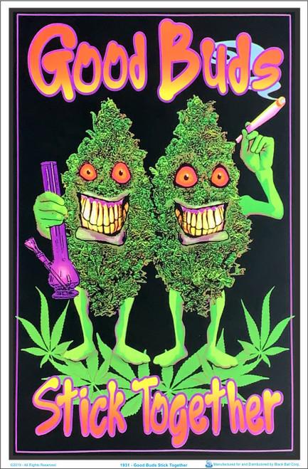 Good Buds Stick Together Black Light Poster 23 x 35 Image