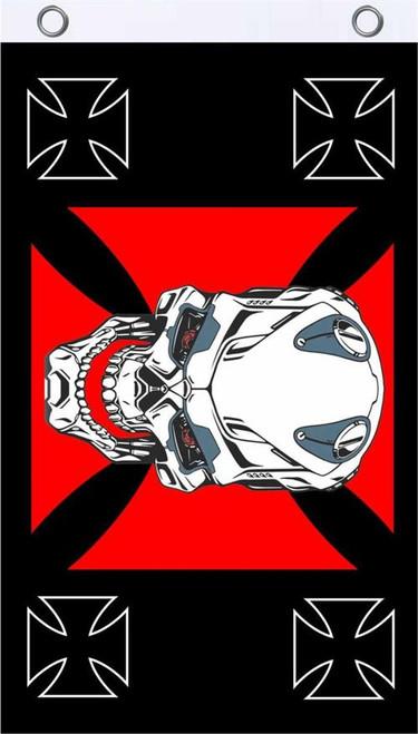 Iron Skull Fly Flag 3' x 5' Image