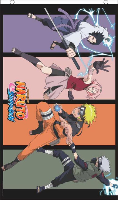 Naruto Team 7 Licensed Fly Flag 3' x 5' Image