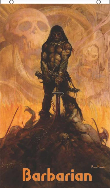 Barbarian by Frank Frazetta Licensed Fly Flag 3' x 5' Image