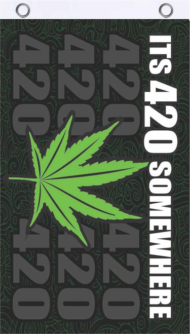 It's 420 Somewhere Fly Flag 3' x 5' Image