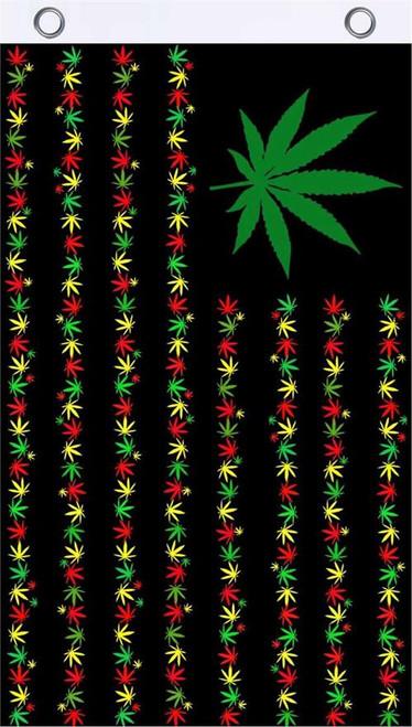 Herbal Rasta USA Fly Flag 3' x 5' Image