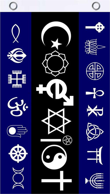 Coexist Fly Flag 3' x 5' Image