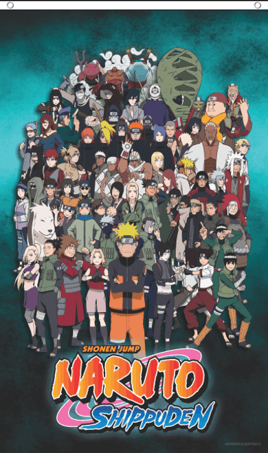 Naruto Characters Licensed Fly Flag Image