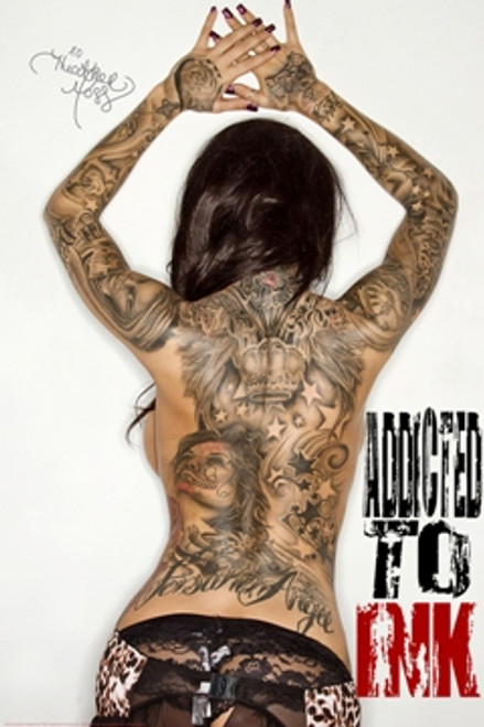 Addicted To Ink Poster by: Daveed Benito 24-by-36 Inches Image